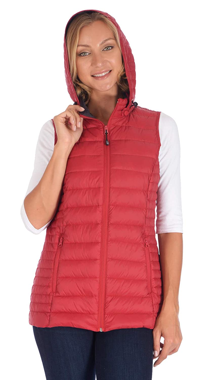 Polar Glacier Woman's Hooded Premium Down Vest