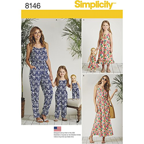 Buy matching girl and doll dress patterns - 6