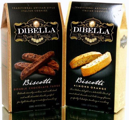 - Dibella Ricette di Famiglia Traditional Artisan Style Italian Biscotti Cookies Double Chocolate Fudge & Almond Orange 13.2 Oz