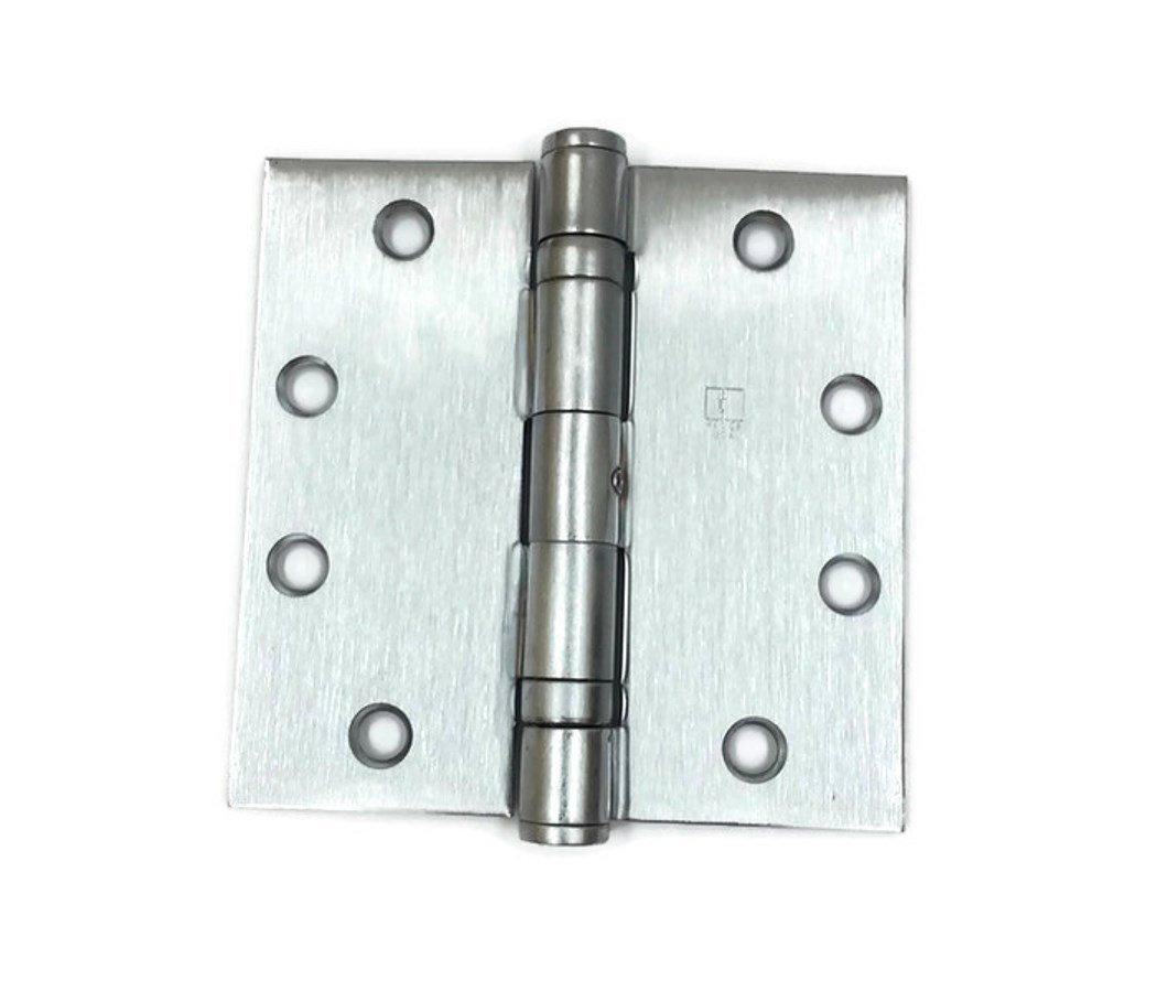 Hager Full Mortise Stainless Steel Hinge BB1191 NRP 4.5 x 4.5 US32D/630 (Satin Stainless Steel) - Box of 3 Ball Bearing hinges