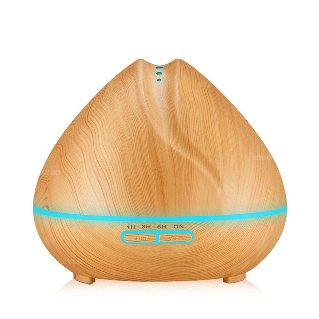Dispers 400Ml Aroma Essential Oil Diffuser Ultrasonic Air Humidifier With Wood Grain 7 Color Changing LED Lights For Office Home Bedroom light wood EU