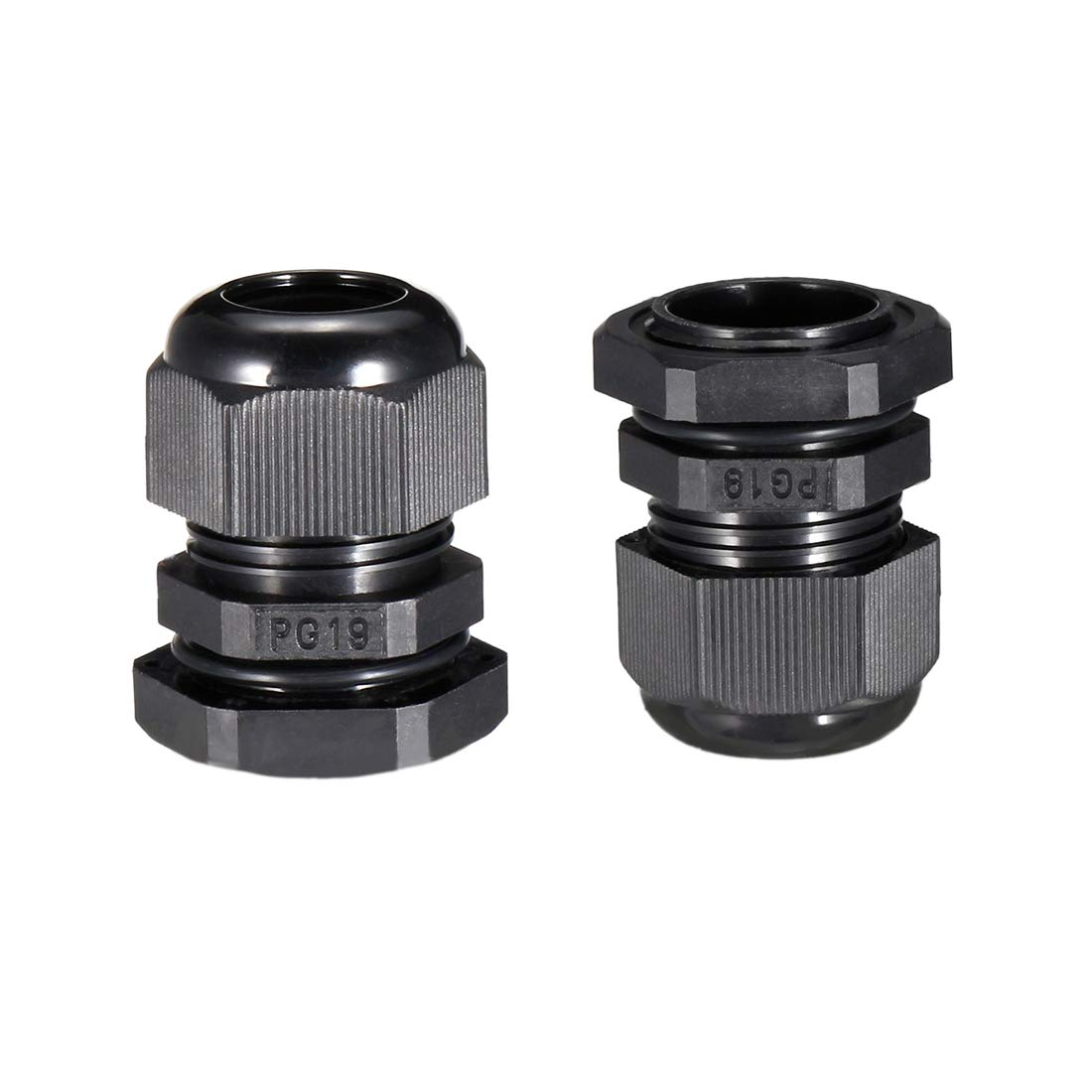 36 Pcs Black PG9 Plastic Connector Gland for 4mm-8mm Cable uxcell a14042200ux0222