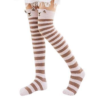1347665e7cd Amazon.com  Sleep Socks Fuzzy Winter Women Warm Socks Cute Indoors ...