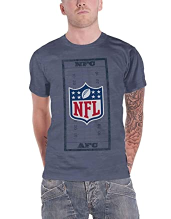 cf3d91f3c NFL T Shirt Field Shield AFC Logo Official Mens Blue XL  Amazon.co ...