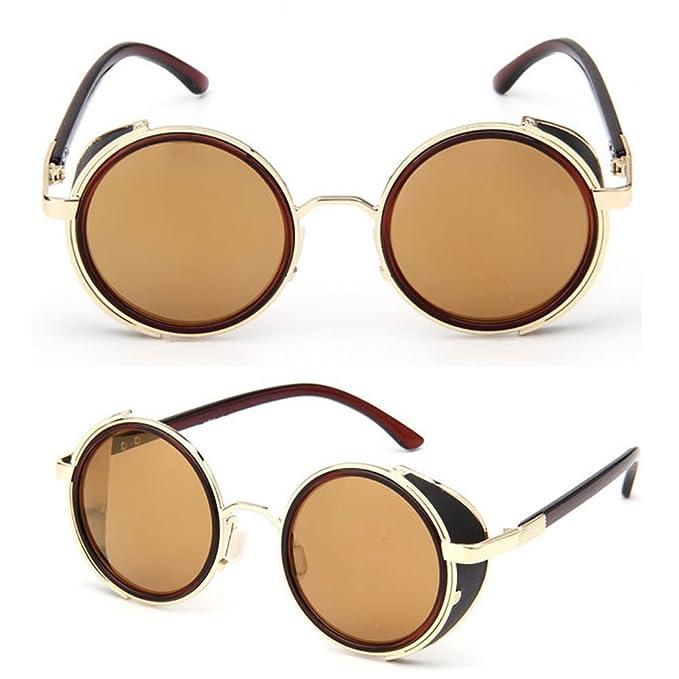 Amazon.com: doober Ronda anteojos Gafas de Classic Cyber ...