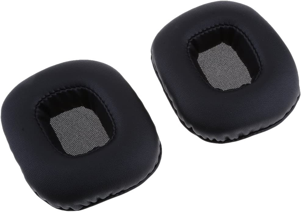 Kesoto Ear Pads Earpads Cushion Repair Part for for Razer Tiamat Over Ear 7.1 Surround Sound PC Gaming Headset Black