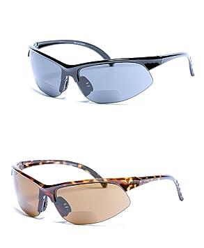 2 paires de Unisexe à double foyer Sport Wrap Lunettes de soleil en plein  air Lunettes a0fc1773f026