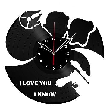 Amazon.com: Star Wars - Reloj de pared de vinilo con grabado ...