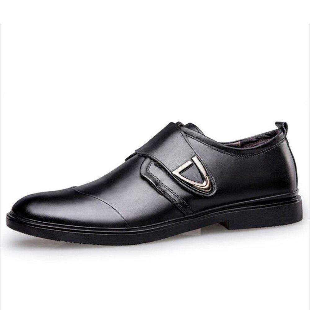 Zapatos de hombre de cuero sintético Zapatos de otoño de primavera formal Zapatos de cuero de hombre de negocios Zapatos de Brooklyn para hombres Oficina y carrera Fiesta y noche GAOLIXIA ( Color : Black , tamaño : 39 ) 39|Black