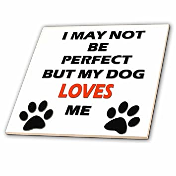 Amazoncom 3drose Rinapiro Dogs Quotes I May Not Be Perfect But