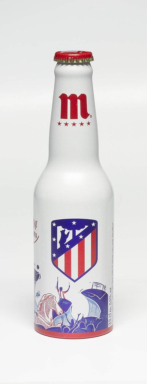 Mahou 5 Estrellas Cerveza lager - 0.33 L (Botella edición limitada Atlético de Madrid): Amazon.es: Alimentación y bebidas