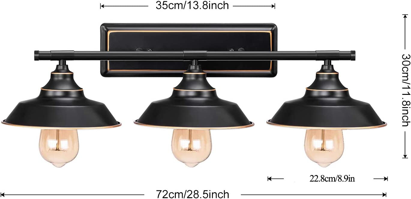 Amazon Com Industrial Bathroom Vanity Wall Light Licperron Farmhouse Rustic Style Wall Sconce 3 Lights Vintage Vanity Light Fixture For Bathroom Bedroom Home Improvement