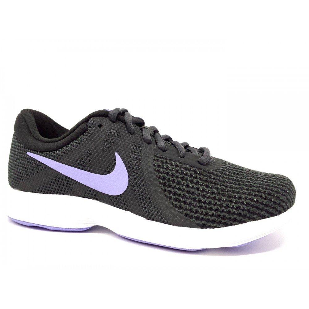 Nike Wmns Revolution 4 EU, Zapatillas de Running para Mujer 36 EU|Multicolor (Anthracite/Twilight 006)
