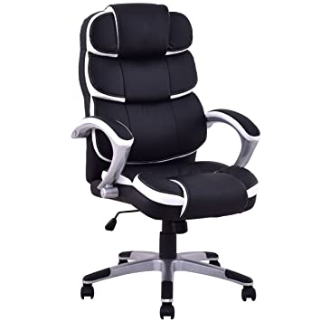 Nice Giantex Ergonomic PU Leather High Back Executive Computer Desk Task Office  Chair (Black)