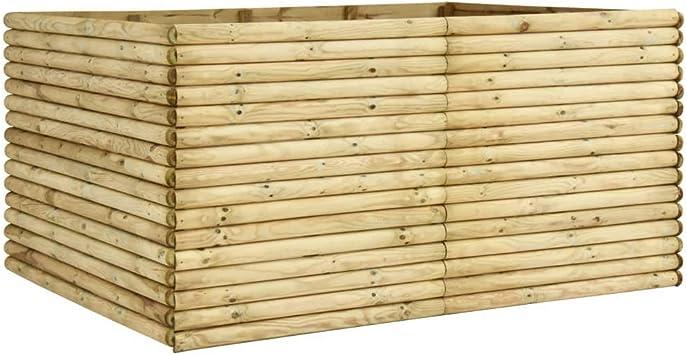 vidaXL - Jardinera de jardín, 206 x 150 x 96 cm, madera de pino impregnada: Amazon.es: Hogar