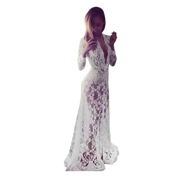 quality design 6a320 c55f7 beautyjourney Copricostume Mare Donna Vestiti Spiaggia Donna Vestito Lungo  Donna Copricostume Pizzo Donna Vestito Lungo Donna Estivo - Donne Costume  ...