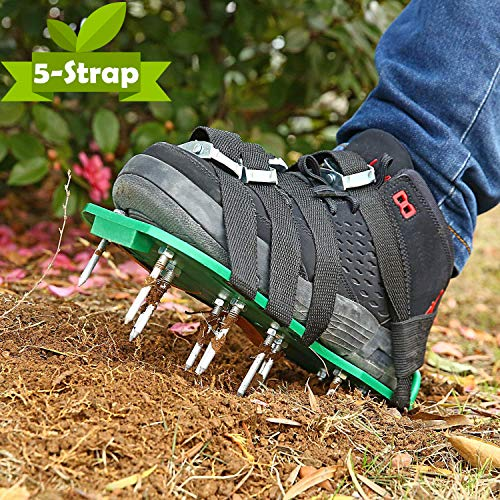 Ohuhu Zapatos De Aireador De Césped Verde