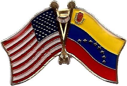 Pack de 3 Venezuela & Nos cruzado doble bandera pins, Venezuela y Estados Unidos amistad Pin Badge: Amazon.es: Oficina y papelería