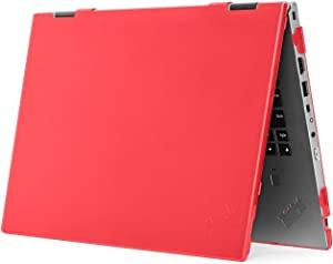 "mCover Hard Shell Case for 2020 14"" Lenovo ThinkPad X1 Yoga (4th Gen) Laptop Computer (Red)"