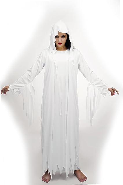 SEA HARE Disfraz de espíritu Fantasma Blanco Adulto de Halloween ...