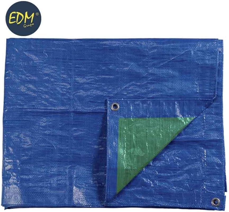 TOLDO 2X3M DOBLE CARA AZUL//VERDE OJETES DE METAL DENSIDAD 90 G//M2 EDM