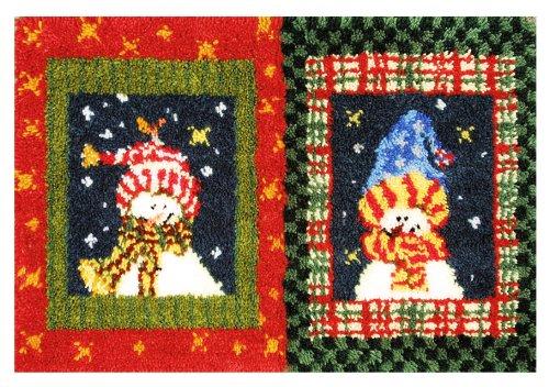 MCG Textiles Snowmen Latch Hook