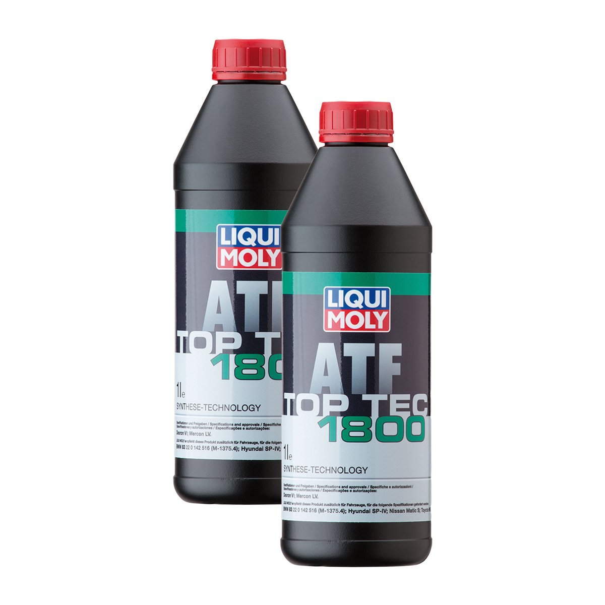 2x Liqui Moly 3687 Top Tec 1800 ATF Automatic Gearbox Oil 1