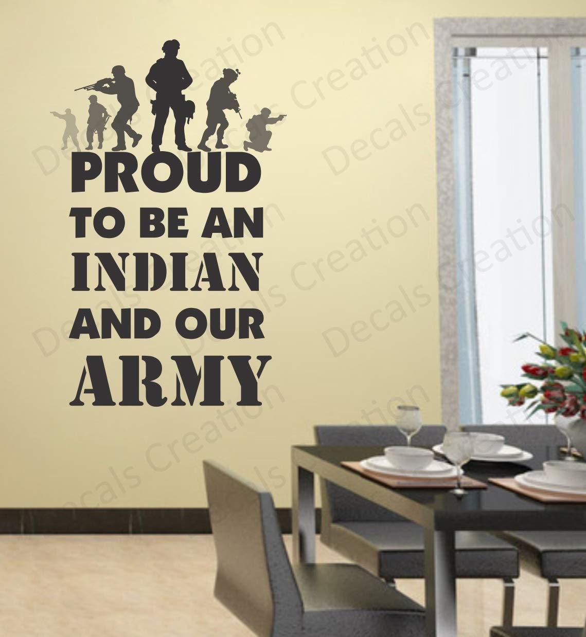 Buy Decals Creation Vinyl Military Wall Sticker 29 92 X 29 92 X 0 39 Inches Multicolour Online At Low Prices In India Amazon In