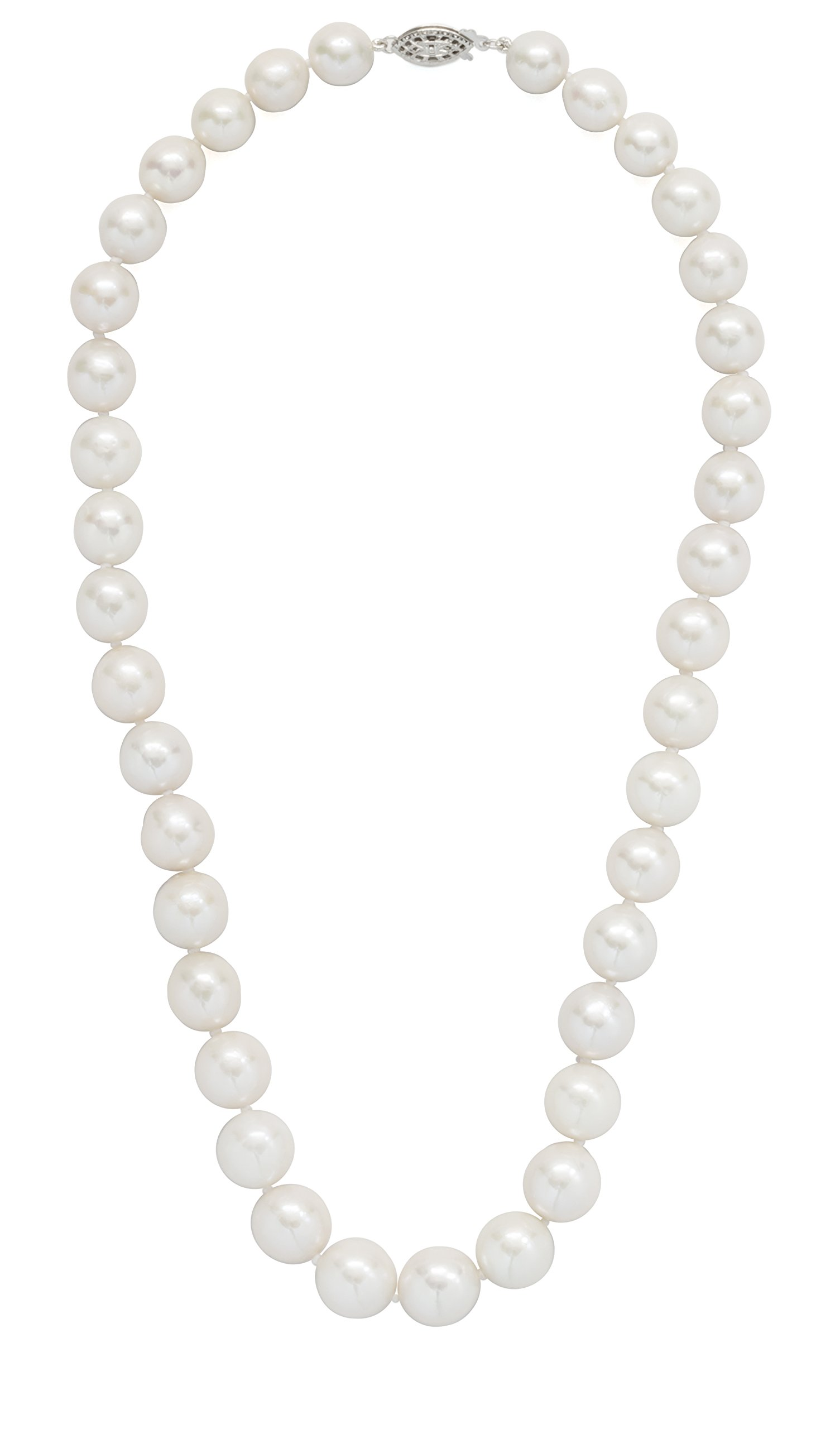 ISAAC WESTMAN Graduated Freshwater Cultured Pearl Strand Necklace | 9-11mm | 925 Sterling Silver Clasp
