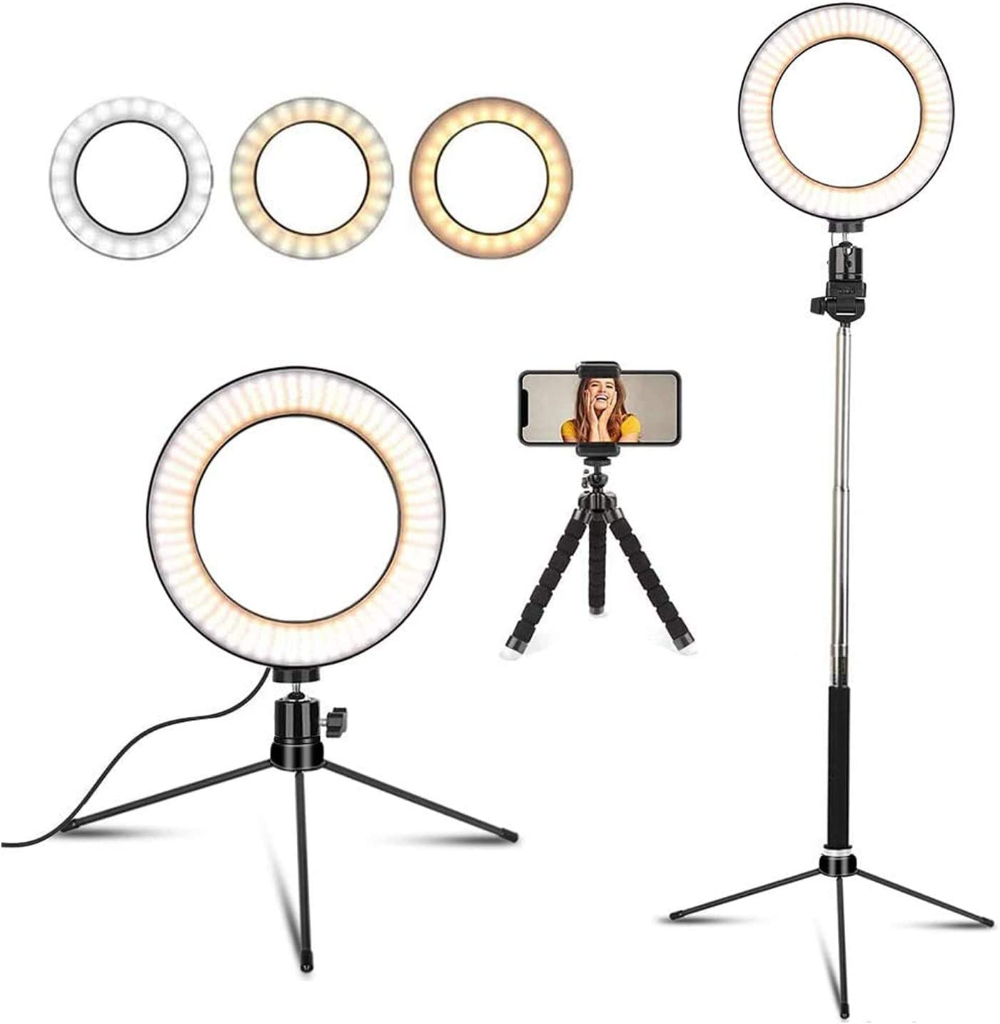 FGAITH Ring Lighting Floor Fill Light Makeup Mirror Light Photography Light Professional Flash Bracket Lighting Multifunction
