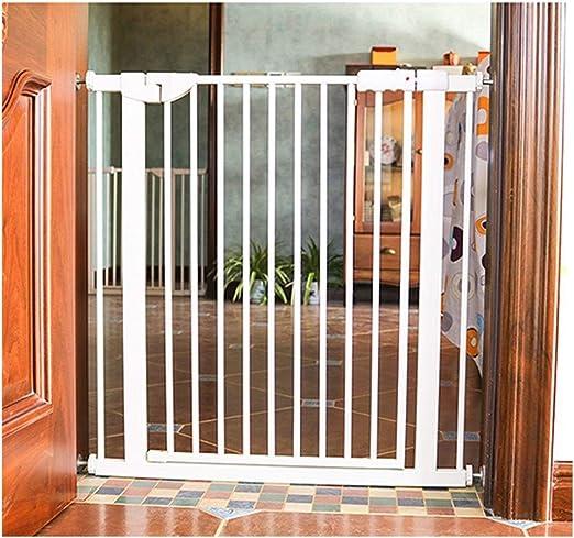 Puerta De Bebé Puertas For Bebés For Escaleras Puerta De Valla Extra Ancho Aumento De Mascotas Barandas De Encriptación Protección De Bebés Y Niños Aislamiento Sin Perforar Patio De Juegos Con Cierre: