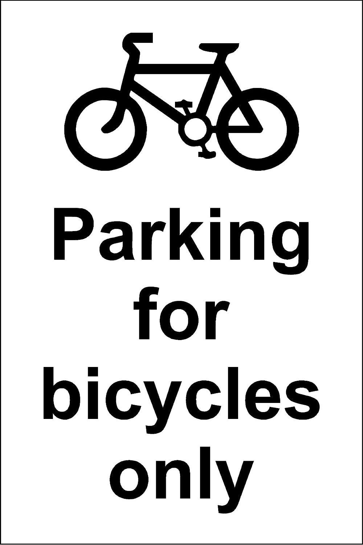 /1,2/mm pl/ástico r/ígido 300/mm x 200/mm Aparcamiento s/ólo para bicicletas se/ñal/