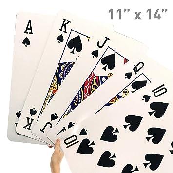 Gigante Juego de cartas - novedad Jumbo tarjetas para niños ...