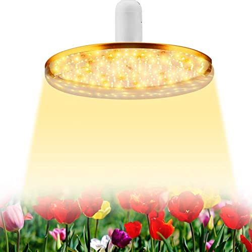 PARFACTWORKS 100W UFO Small Indoor Plants Growing Light Bulb Grow Light