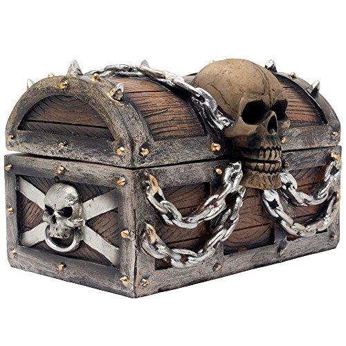 Evil Cráneo en caja cofre de Estatua con compartimento de almacenamiento oculto para decoración de gótico Decoración o...