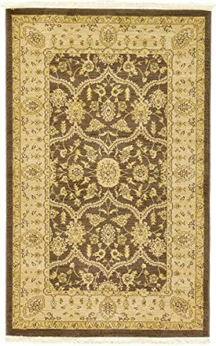 Unique Loom Edinburgh Collection Oriental Traditional French Country Brown Area Rug 3' 3 x 5' 3