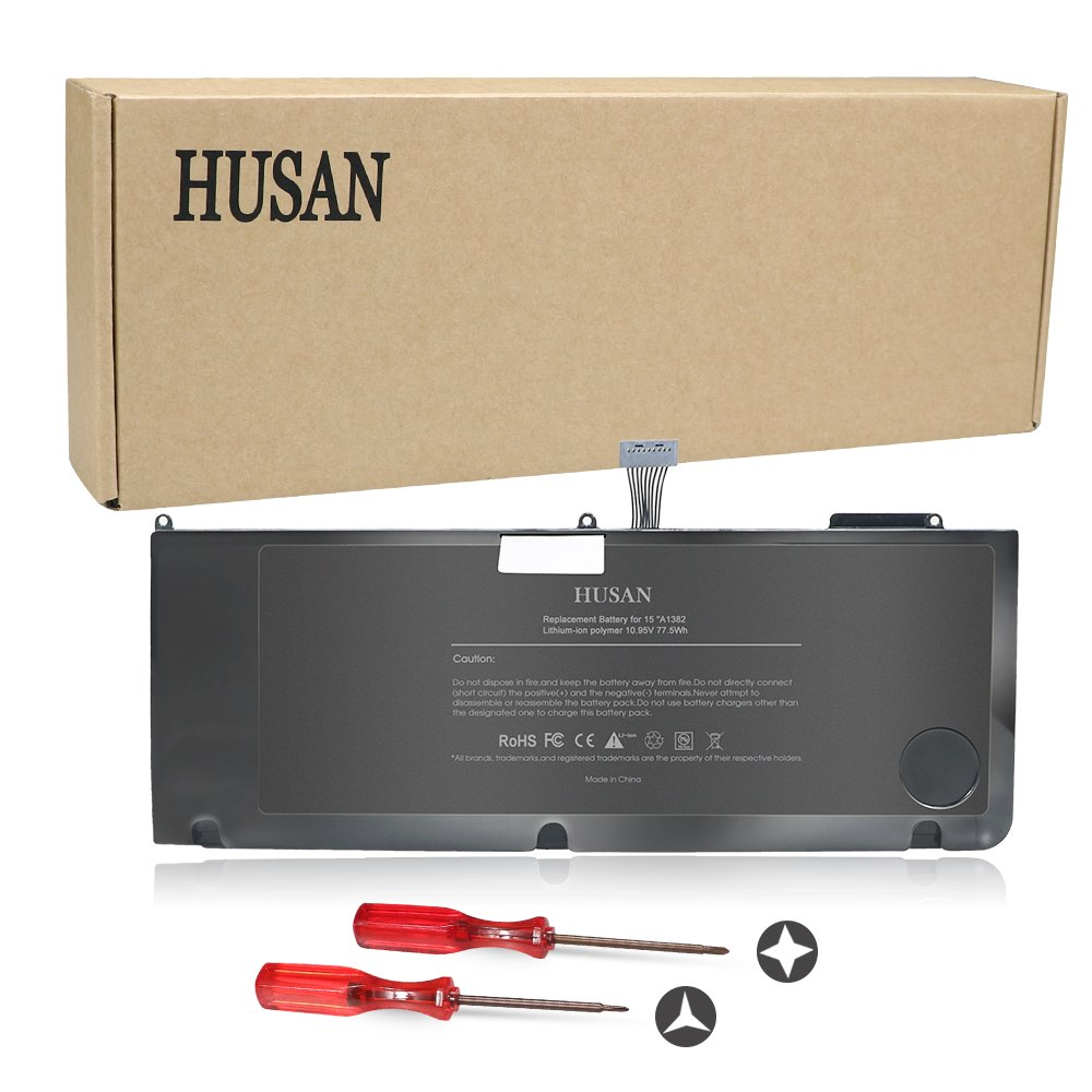 HUSAN New A1382 Laptop Battery Compatible for MacBook Pro 15 inch A1286 (only for Early/Late 2011, Mid 2012), fit MC721LL/A MC723LL/A 661-5844 020-7134-A by HUSAN (Image #4)