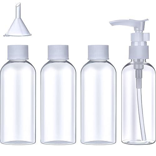 Set de Botella de Viaje de Plástico (100 ml) Contenedor de Avión Transparente de