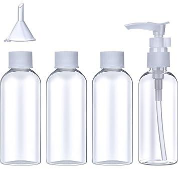 8a05b0559173 Plastic Travel Bottle Set (100 ml) Transparent Flight Toiletries ...