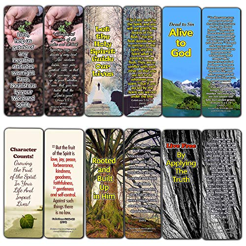 Powerful Bible Verses Bookmarks - Spiritual Growth (60-Pack) - Perfect Gift Idea for Friends and Loved Ones (Let The Holy Spirit Guide Your Lives)