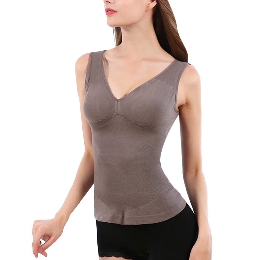 Zhuhaitf Ladies Seamless Integrated V Neck Vest Fiber Lingerie Chest Care Underwear