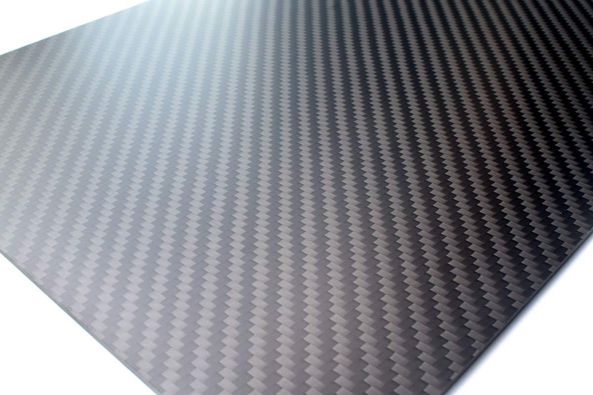 cncarbonfiber 0.5mm 200x300mm 100% Carbon Fiber Sheet Laminate Plate Panel 3K Twill Matte Finish by cncarbonfiber