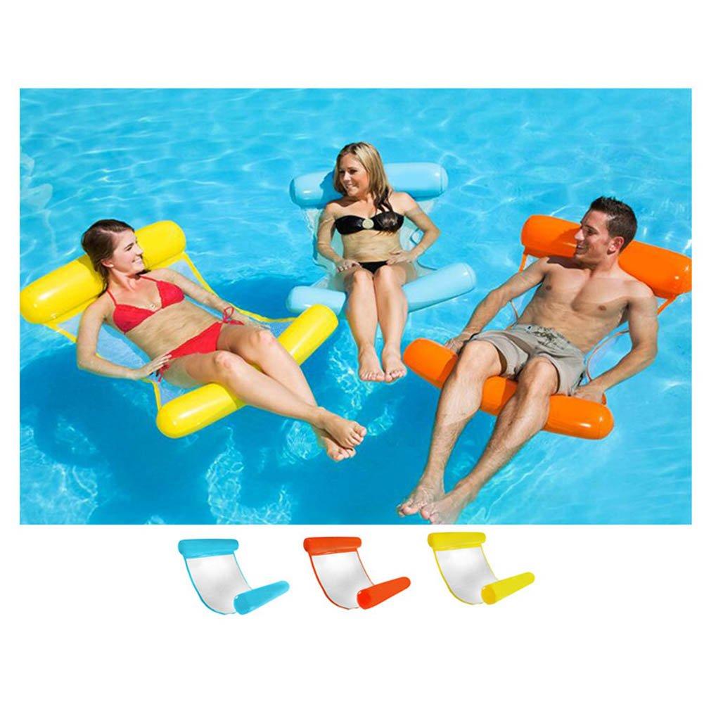 ROKOO Cama Hinchable de Piscina de Tumbona de Playa de Respaldo Hinchable Personas Simples de Hamaca del Agua