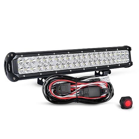 61TQ6KI6Z3L._SY463_ amazon com nilight 20 inch 126w spot flood combo led light bar  at mifinder.co