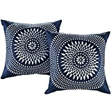 outdoor throw pillow blue - Modway 2 Piece Modway Outdoor Patio Pillow Set, Cartouche