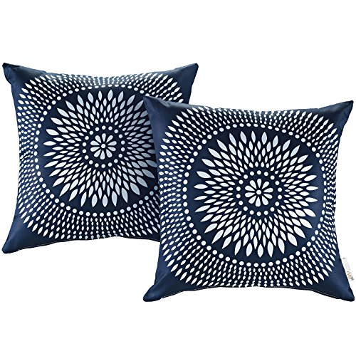 Modway 2 Piece Outdoor Patio Pillow Set, Cartouche by Modway