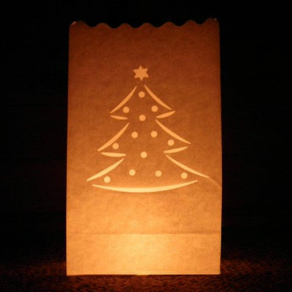 e-shop2door Candle Luminary Bags (Pack of 10) - Christmas Tree biaoji craft