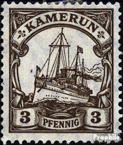 Sellos para los coleccionistas alem/án. Colonia Prophila Collection Camer/ún 20 1918 Barco yate del Emperador Hohenzollern Marinero