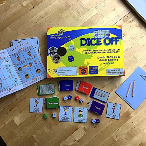 Dice Off: Learn Spanish for Kids
