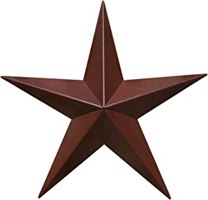 "Barn Star - Metal Stars for Outside Texas Stars Art Rustic Vintage Western Country Home Farmhouse Wall Decor (34"")"